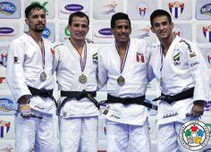 Felipe Kitadai (BRA), Sergio Pessoa (CAN), Juan Postigos (PER), Eric Takabatake (BRA) - Pan American Championships Havana (2016, CUB) - © Gabriela Sabau, IJF