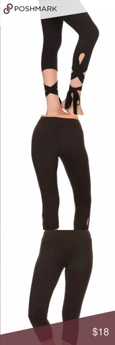 Wrap around leggings Yoga dance leggings with elastic waistband  Material- 94% Polyester, 6% Spandex Pants Leggings