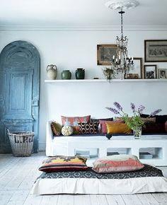Moroccan white interior