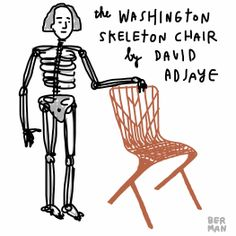 The Washington Skeleton Chair is a new outdoor chair from architect David Adjaye.  The collection was also honored with a Best of NeoCon award.  #revolutionworkplace