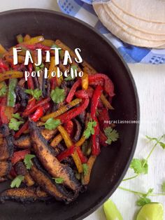 Fajitas portobello | Recetas Veganas - Blog de recetas veganas | No gracias, no como carne