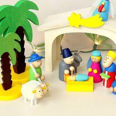 Nativity scene closeup