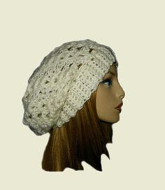 SLOUCHY Beanie Hat Crochet Slouchie Beany Knit by 2SistersHandmade Crochet  Slouchy Hat 6b50d9212eaa