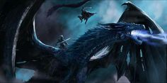 Azor Ahai attacking the Night's King atop of Viserion