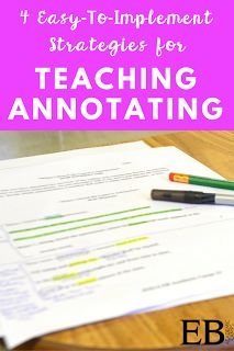 Easy to implement tips for teaching your students how to annotate correctly. Perfect tips for your upper elementary, middle school, or high school classroom!