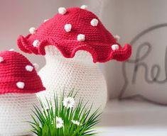 Crochet Cactus, Crochet Food, Amigurumi Patterns, Crochet Patterns, Crochet Mushroom, Crochet Keychain Pattern, Crochet Decoration, Etsy Handmade, Crochet Stitches