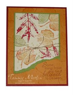 Tammie Stamps: Fall card with French Foliage