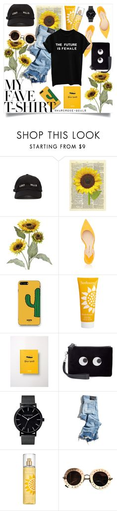"""""""Untitled #98"""" by wardrobe-goals ❤ liked on Polyvore featuring Yeezy by Kanye West, Pier 1 Imports, Paul Andrew, WithChic, Elizabeth Arden, Bobo Choses, Anya Hindmarch, R13, Gucci and sunflowers"""