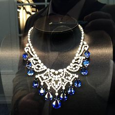 """Harry Winston. Gorgeous. Doesn't really fit in """"My Style"""" on Pinterest but if I were a Princess it sure would :). Love it. The blue stones, wow!"""