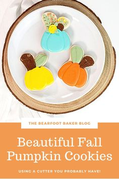 Are you looking for an easy pumpkin cookie to make this fall or Halloween? Try these beautiful and elegant pumpkin cookies! They are made with a bunny cookie cutter, which is sometimes easier to find than a pumpkin cutter. These pumpkin cookies make a beautiful addition to a fall cookie platter, a Halloween party, or as a fun treat to make with your kids! #thebearfootbaker #halloweencookies #halloween #pumpkincookies Fall Cookies, Pumpkin Cookies, Sugar Cookies, Halloween Cookies, Halloween Party, Halloween Decorations, Little Pumpkin, A Pumpkin, Fall Pumpkins
