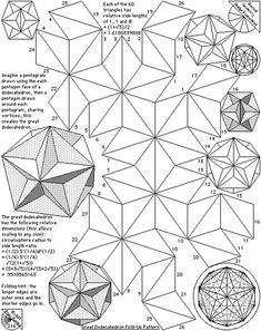 Great dodecahedron fold up pattern.