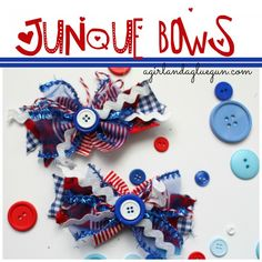 I've talked about junque bows before…but I'm loving them more and more…. cause A. you get to use up scraps and leftovers. and B…there is no rhyme or reason and they always look so fun! So i got patriotic and whipped up some 4th of July Junque bows! gather up your color scheme! ribbon, fabric, [...]