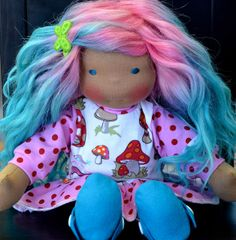 <3 Dragonfly's Hollow cotton candy haired doll