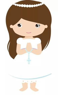 Première Communion, First Holy Communion, Decoration Communion, Easter Religious, Cute Images, Baby Design, Paper Dolls, Christening, Hello Kitty