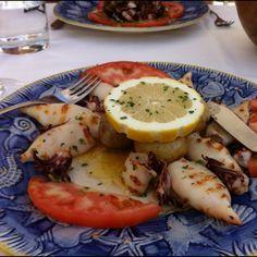 Grilled squid portuguese stye.