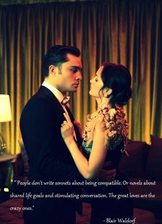 Blair and Chuck. Love me some Gossip Girl