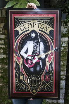 Eric Clapton Gig Posters by Adam Pobiak