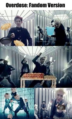 OMG ... this fandom ♥ #exo #overdose XD I never thought of it this way but I also can't stop laughing XDD