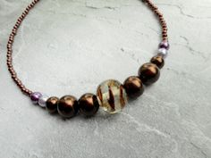 Stylish ladies necklace. Homemade and handmade by Liesbeth Visscher at  JHFWBeadsAndFindings op Etsy