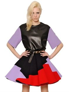 Nappa Leather And Wool Crepe Top  $1,351 $540