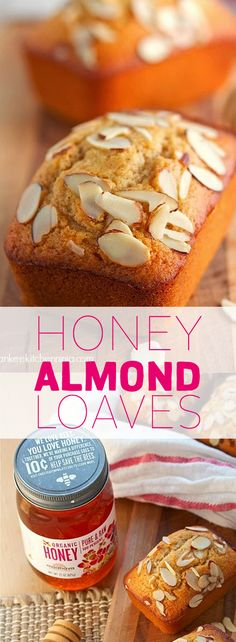 This Honey Almond Loaf makes for a great breakfast companion with your morning coffee! #madhavaorganicpureandrawhoney