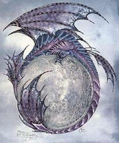 moon dragon - Google Search