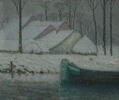 Barge in the Snow (William Degouve de Nuncques - ) The Snow, Winter Szenen, Black Sails, Museum, His Travel, Winter Landscape, Landscape Art, Ship Art, Les Oeuvres