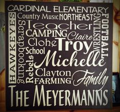 Personalized Custom Name Sign Collage Family Rules Canvas Wedding, Anniversary, 40th 50th Birthday, Retirement, Graduation, Christmas
