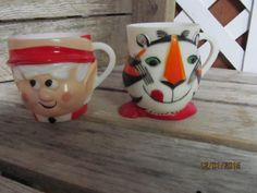 Vintage 1964 Kellogg's Tony the Tiger Plastic Coffee Mug & 1972 Keebler Elf Plastic Coffee Mug Advertising Collectibles Cups by EvenTheKitchenSinkOH on Etsy