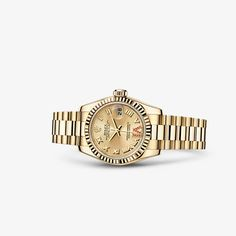 Rolex Oyster Lady's 18k yellow gold watch, 26 MM