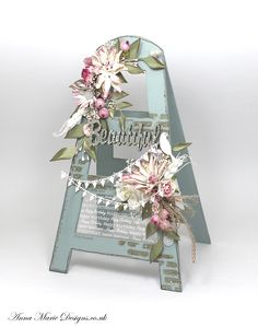This fun MDF design can be used as a platform for all types of decoration for any occasion instead of a card.