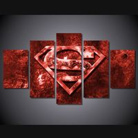 Home Decor HD Printed Movie Superman Art Painting Children'S Room Decor Print Poster Picture Painting On Canvas Wall Art 5 Panel Wall Art, Framed Wall Art, Canvas Wall Art, Superman Art, Superman Logo, Naruto Painting, Superhero Wall Art, Movie Decor, Painting Frames