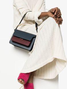 4f4913df4569 Marni Blue And Brown Trunk Medium Leather Shoulder Bag - Farfetch Vintage  Hairstyles