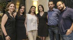 Katalin Stammer, Gislaine de Aguiar (Promob), Cristina Felicio (Studio Bella), Chayanne Baggio (Promob), Nelson Esquivel (Promob) e Victor Mazzoco (Promob)