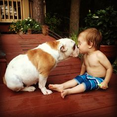 <3 There is nothing like the unconditional love between a child and a dog.