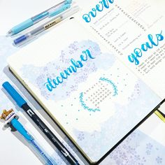 ❄️ — Ahhh it's coming down to the final few weeks before break (goodbye my ;) Sorry this is late, but happy December! This is by far one of my favorite monthly spreads! Hopefully I was able to capture that ahaha. Bullet Journal Banner, Bullet Journal Hacks, Bullet Journal Ideas Pages, Bullet Journal Inspiration, Journal Pages, Bullet Journals, Art Journals, Bujo, Calendar Doodles