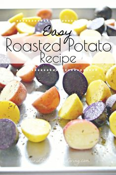 This Easy Roasted Potato Recipe is the perfect way to enjoy your fresh potatoes. It's a simple side dish that your family will want to enjoy alongside all of your favorite meals. Potato Side Dishes, Side Dishes Easy, Side Dish Recipes, Easy Roasted Potatoes, Roasted Potato Recipes, Cheesy Baked Chicken, Fresh Potato, Canning Recipes, Food Dishes