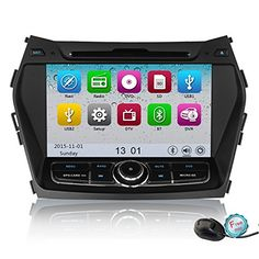 Special Offers - YINUO 8-Inch 800480 HD Touch Screen Car Stereo for Hyundai Santa Fe IX45 2013 In-Dash Vehicle GPS Navigation AV receiver support USB DVD 1080P-Video iPod iPhone AV-IN Steering Wheel Control Bluetooth Ready - In stock & Free Shipping. You can save more money! Check It (August 29 2016 at 02:52AM)…