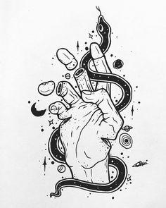 Trippy Drawings, Psychedelic Drawings, Dark Art Drawings, Pencil Art Drawings, Art Drawings Sketches, Tattoo Drawings, Cool Drawings, Totenkopf Tattoos, Arte Sketchbook