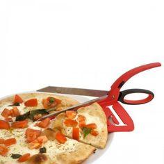 Nie wieder Probleme beim Schneiden! Mit der Pizzaschere haben Sie eine praktische Geschenkidee für alle, die zu Hause eine professionell aussehende Pizza vorbereiten möchten.