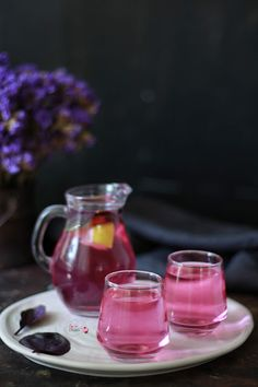 Reyhan Şerbeti Reyhan sherbet recipe – A great drink with its color and flavor, prepared in 5 minutes. Sherbet Recipes, Do Perfect, Body Makeup, Iftar, Turkish Recipes, Food And Drink, Homemade, Drinks, Tableware