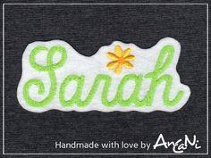 Aufnäher Wunschname in vielen Farben ♥ Appli Name von AnCaNi auf DaWanda.com