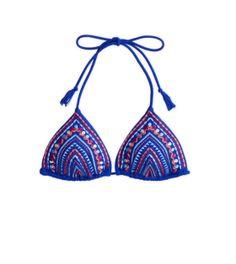 AE Embroidered Triangle Bikini Top