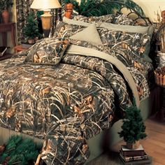 Brown Natural Camo Comforter sheets pillowcases and curtains 12 pc King Set!