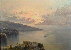 De Corsi Nicolas (Odessa - Ucraina 1882 - Napoli 1956) Sorrento olio su tavola