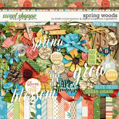 Digital Scrapbook Page Inspiration, Spring Woods by Kristin Cronin-Barrow & Digital Scrapbook Ingredients