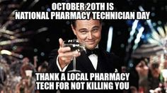 A huge shout out to all the pharmacy technicians out there!
