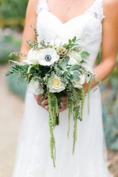 Featured photo: Troy Grover; California Wedding in the San Diego Gardens - bridal bouquet. photo: Troy Grover