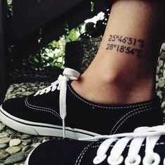 coordinates tattoo Ideas to Mark a Memory on Body (38)
