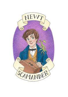 Newt Scamander by Nova Anderson [©2017]